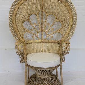 Single Cane Peacock Chair