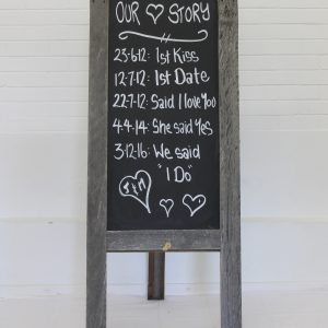 Our Love Story Timber Chalkboard