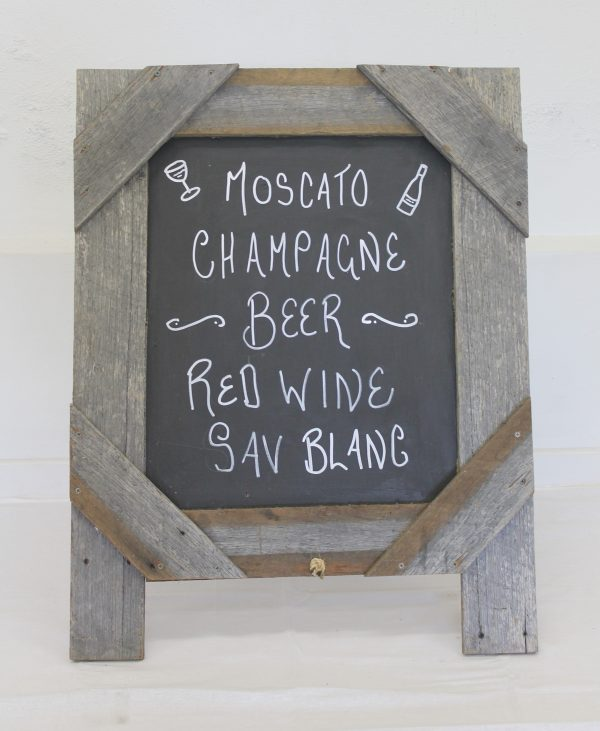 Rustic Timber Chalkboard Easel