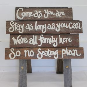 Rustic Wedding Timber Plank Seating Sign