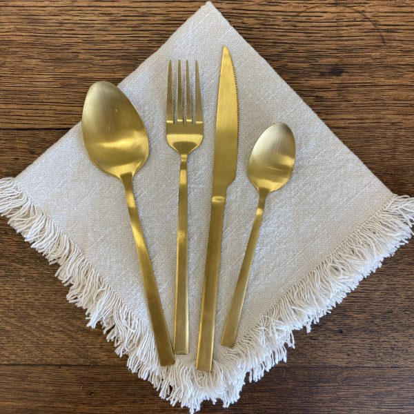 Gold Cutlery Set Hire